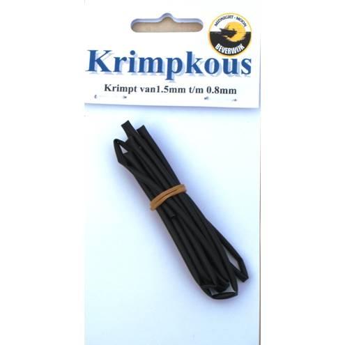 Krimpkous zwart 1 meter
